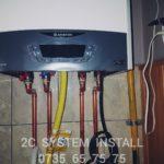 Instalare centrala termica pe gaz Ariston